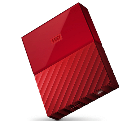WD My Passport 2TB USB 3.0 Portable External Hard Drive (Red)